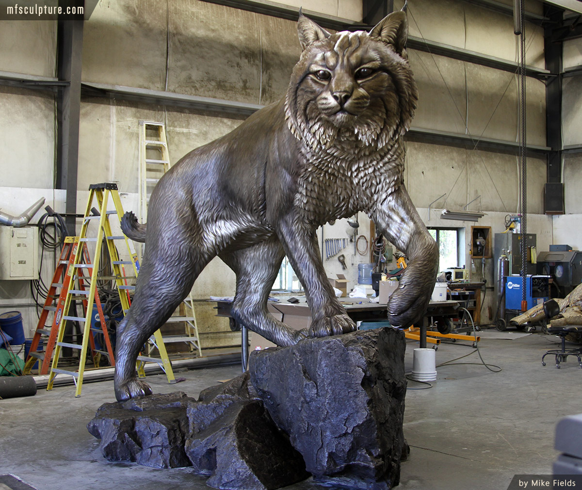 JWU-University-Wildcat-Bronze-Mascot-Bobcat