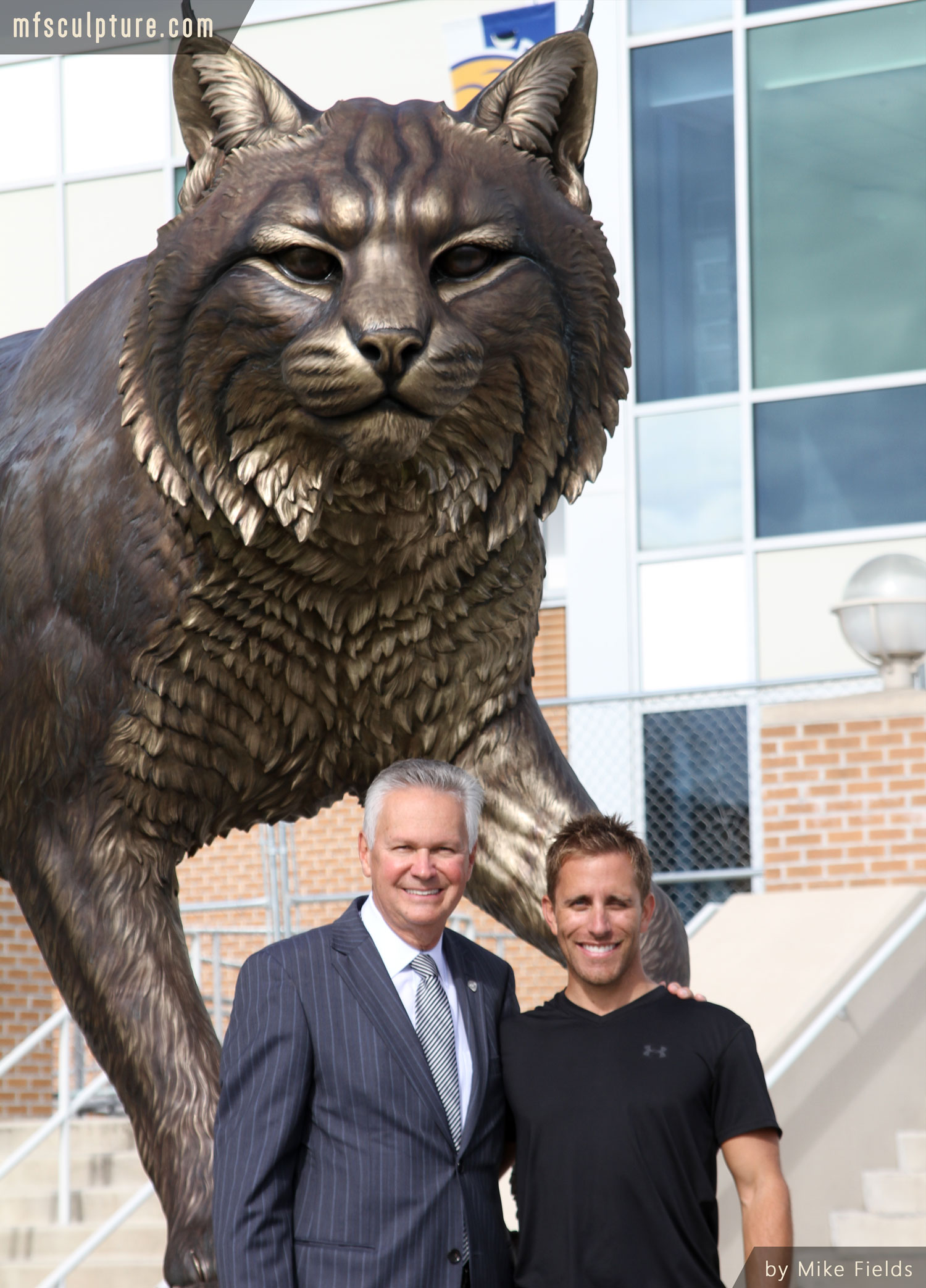 University-Wildcat-Sculpture-Bronze-Mascot-Bobcat-Monument