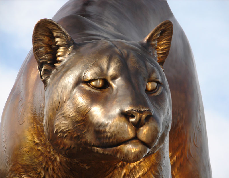 Washington-State-University-Mascot-Monument-Bronze-Head-Wildcat