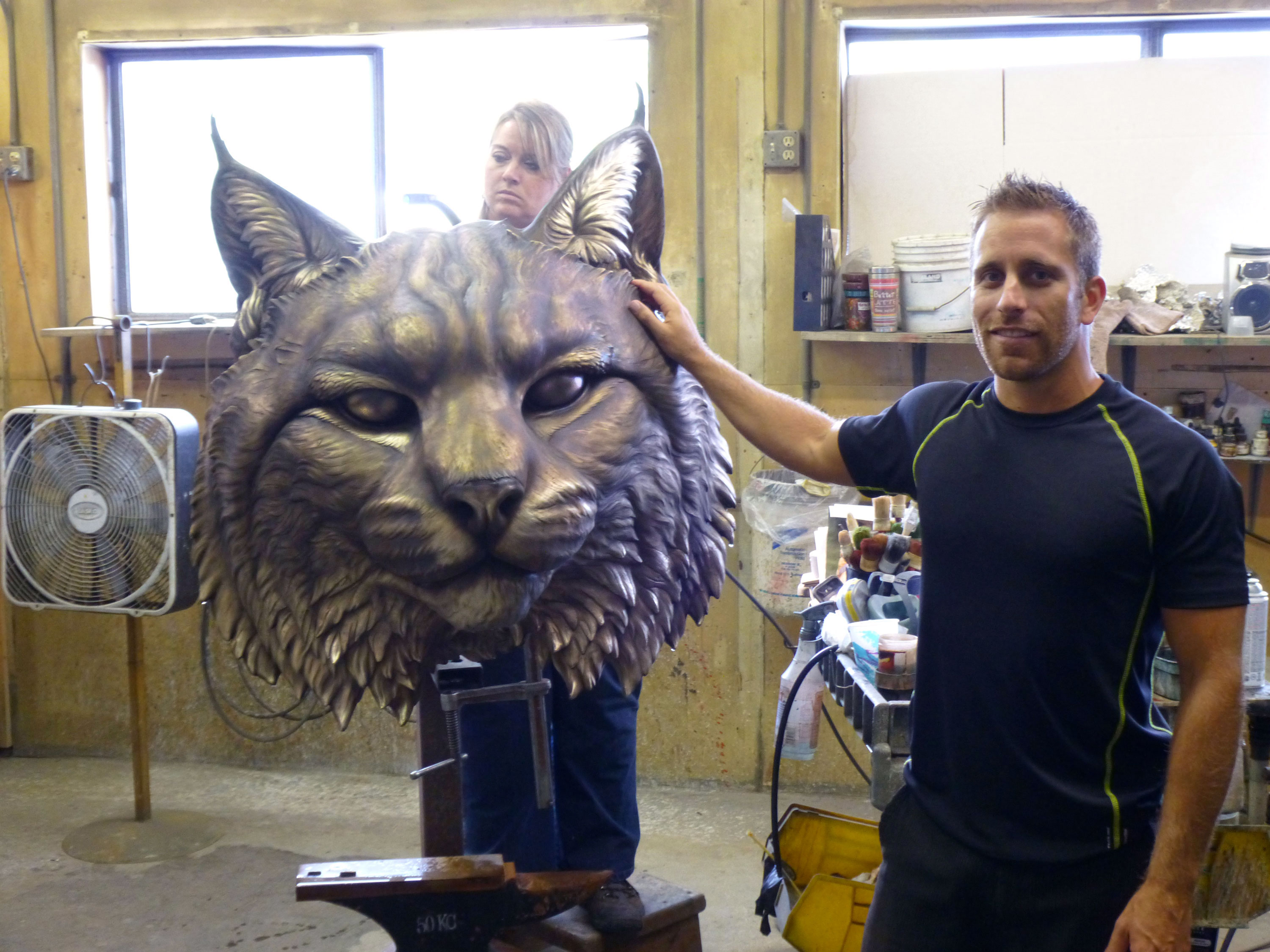 University-Wildcat-Sculpture-Mascot